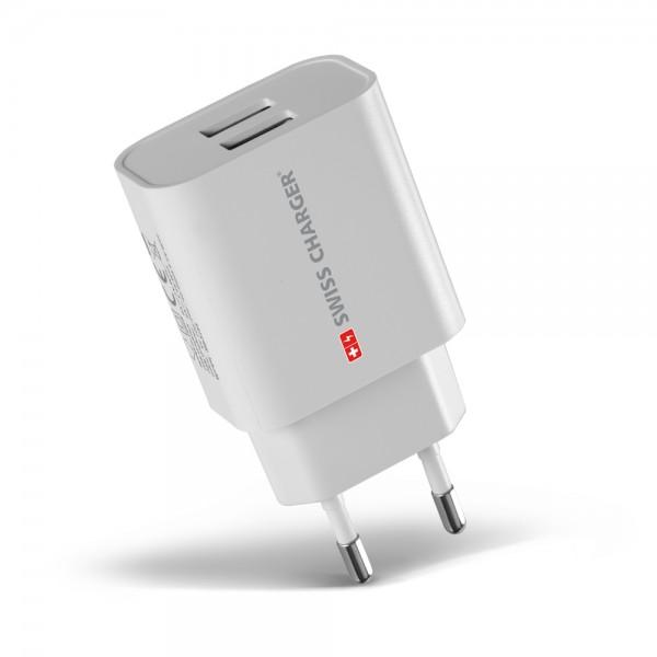 Swiss Charger SCH-40027 Çift USB Hızlı Şarj Adaptörü Duvar Tipi Şarj Aletleri