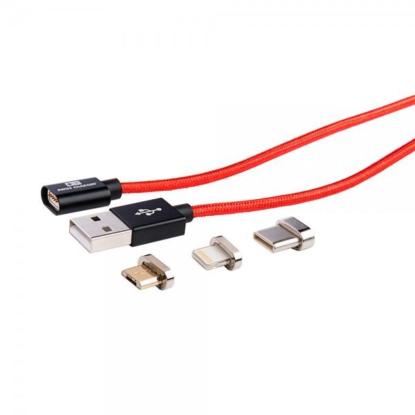 Manyetik Iphone, Micro Usb Ve Type-C Şarj Ve Data Kablosu Şarj ve Data Kabloları