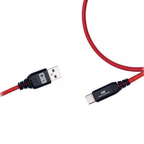 Swiss Charger SCC-10032 Type-C Hızlı Şarj Ve Data Kablosu Şarj ve Data Kabloları